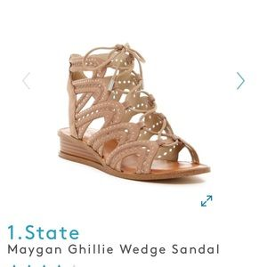 1. State Maygan Ghillie Wedge Sandals